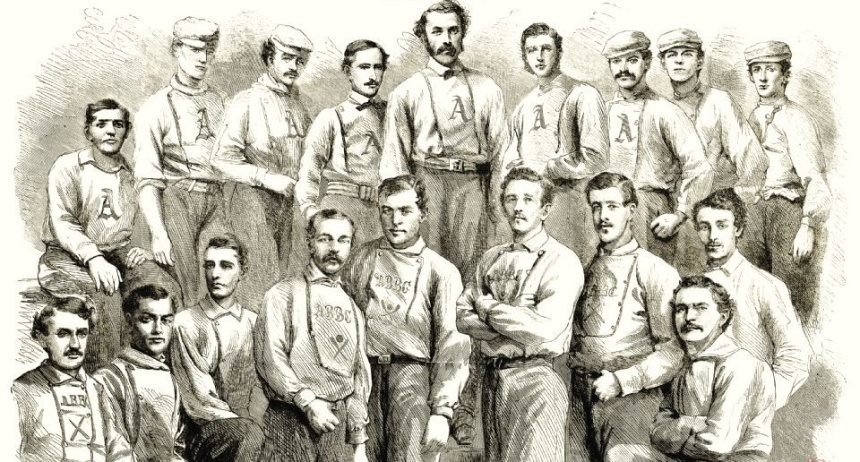 1866, baseball, brooklyn, philadelphia, athletics